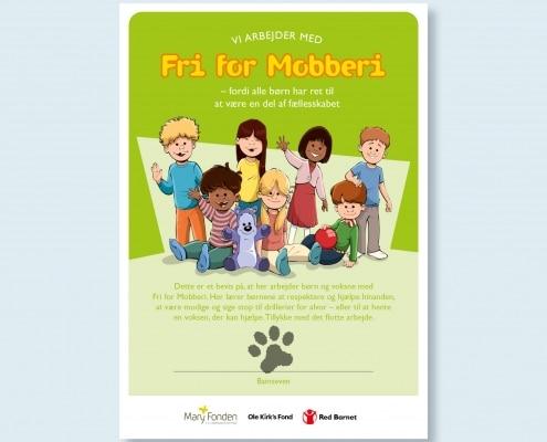 Diplom for Fri for Mobberi til børnehaven