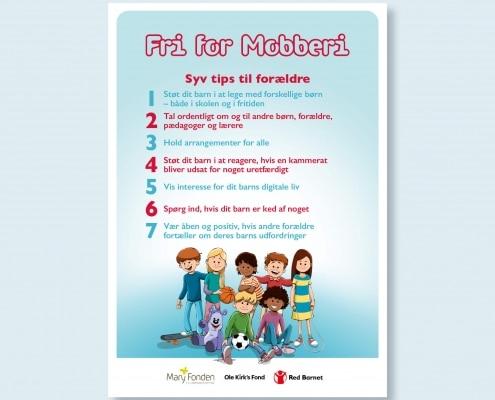 Billede af plakat med syv tips til forældre til skolebørn