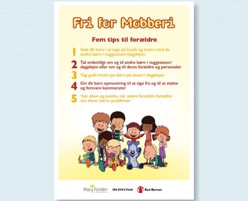 Billede af plakat med tips til forældre i vuggestue og dagpleje