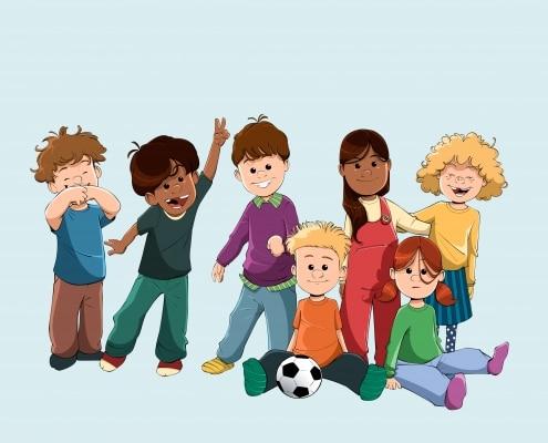 Børnegruppe på 7 børn