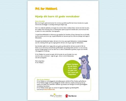 Forældrebrev 3 - 6 år i Fri for Mobberi inkl Bamseven magnet