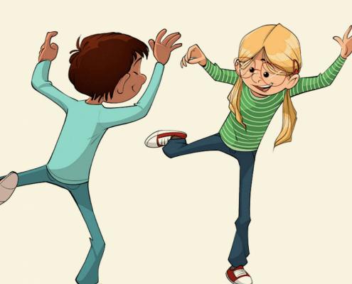 To børn spejler hinanden