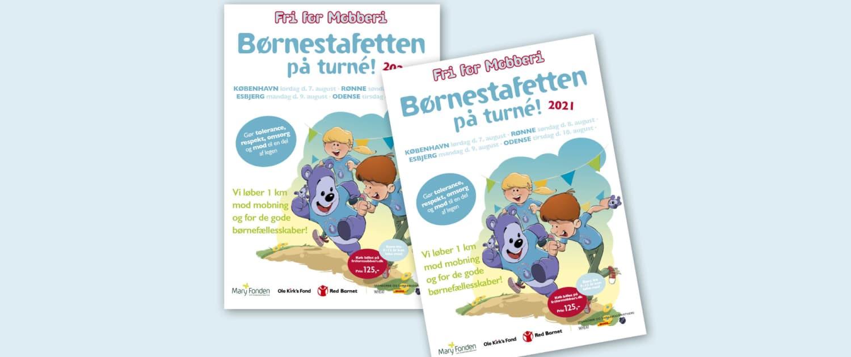 Fri for Mobberi Børnestafetten 2021- plakat